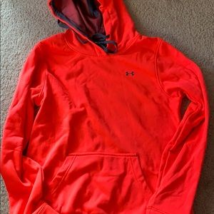 Bright coral/ pink hoodie under Armour